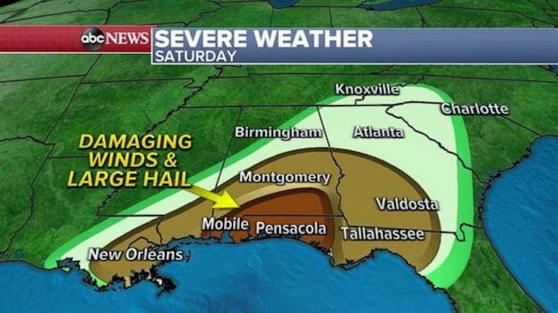 Another round of severe storms expected Saturday inSouth - National News